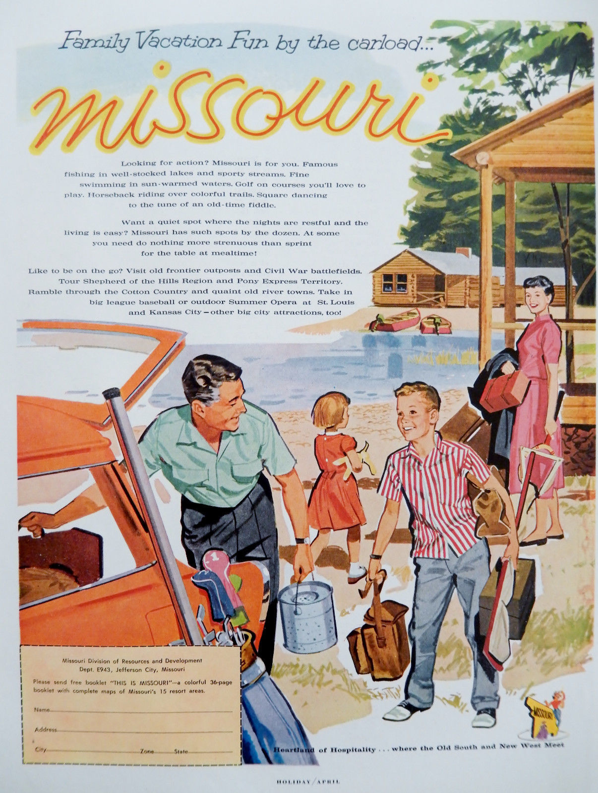 1959 Missouri Tourism advert