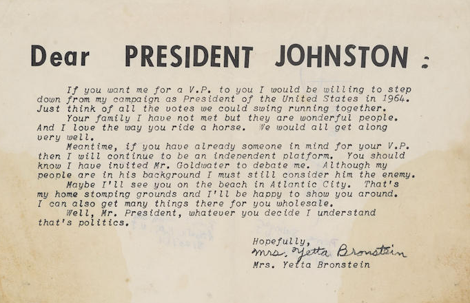 Postcard to LBJ