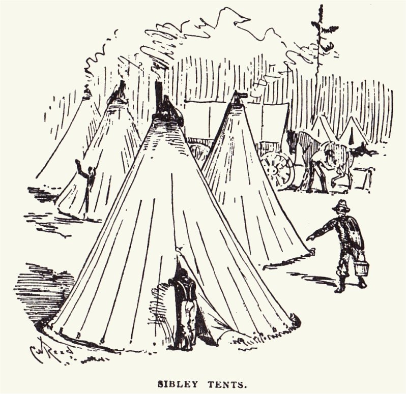 Tents exterior drawing