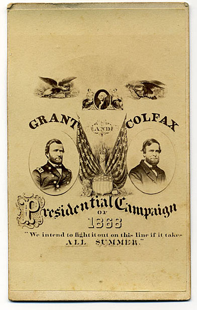 1868 campaign poster