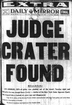 Crater found